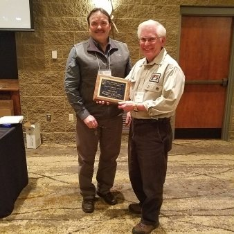 Tim Eisele receives Special Service Award 2019 WI chapter TWS